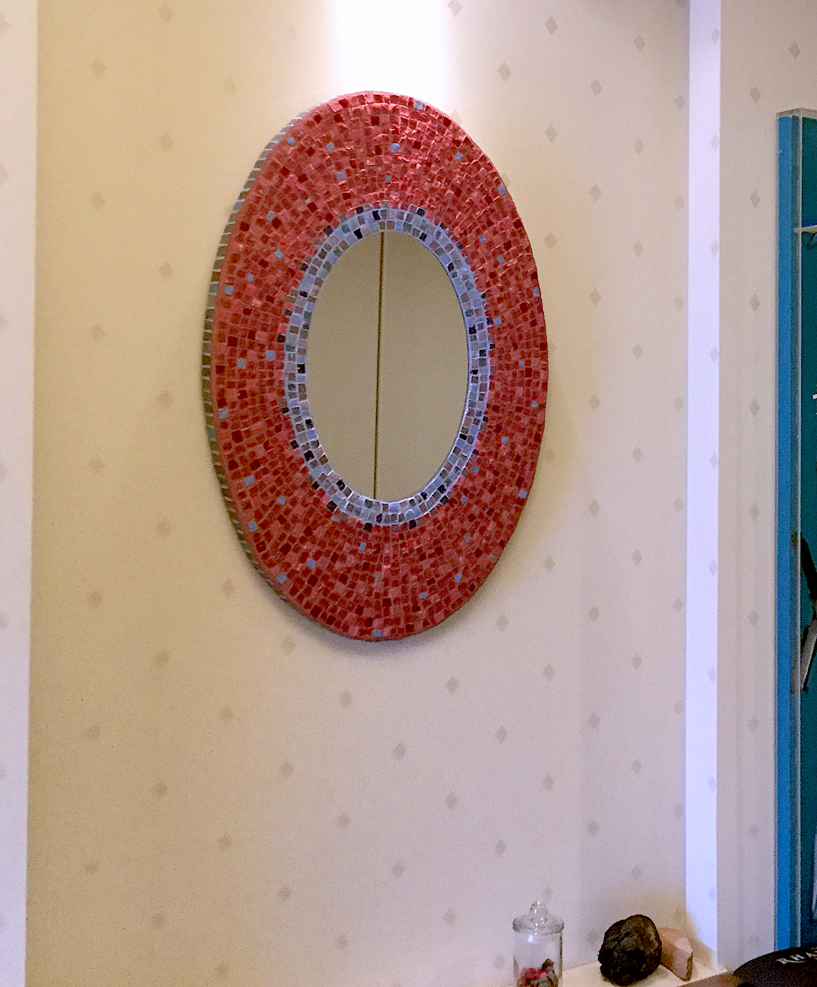楕円形 壁飾り装飾ミラー