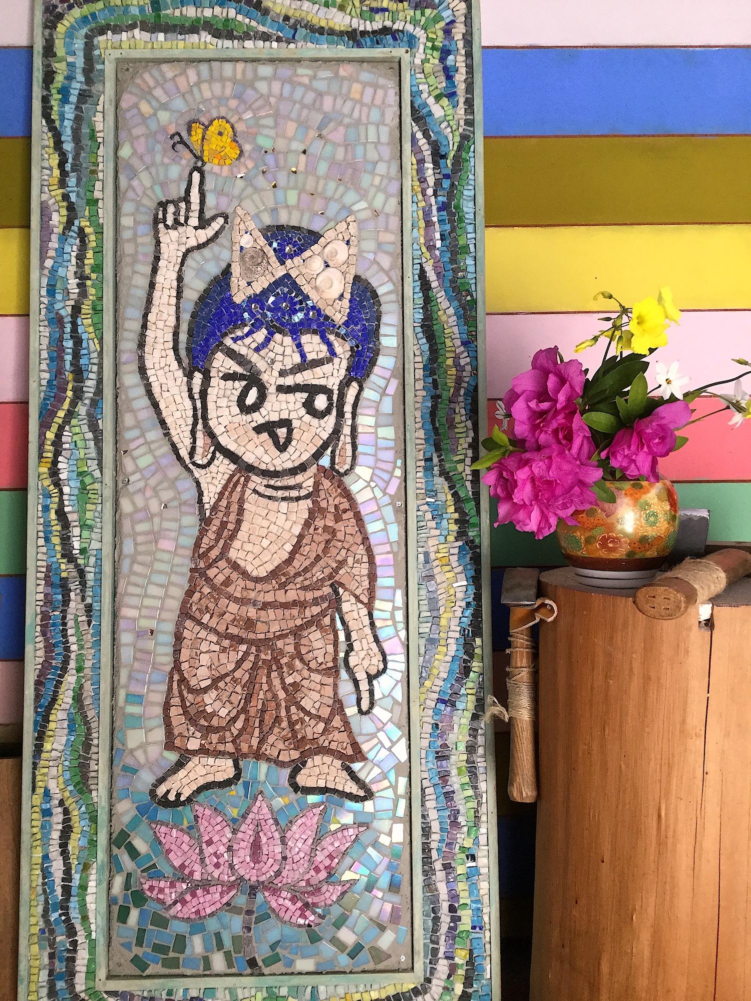 花まつり 仏陀アート 天上天下唯我独尊 モザイクアート