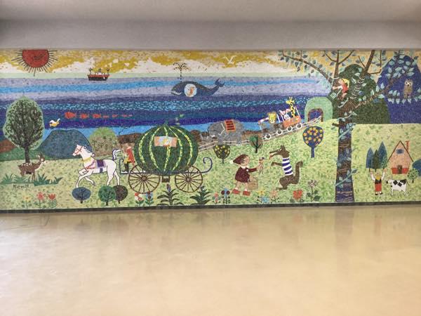 幼稚園ガラスモザイク壁画 修復工事 のがたモザイク工房