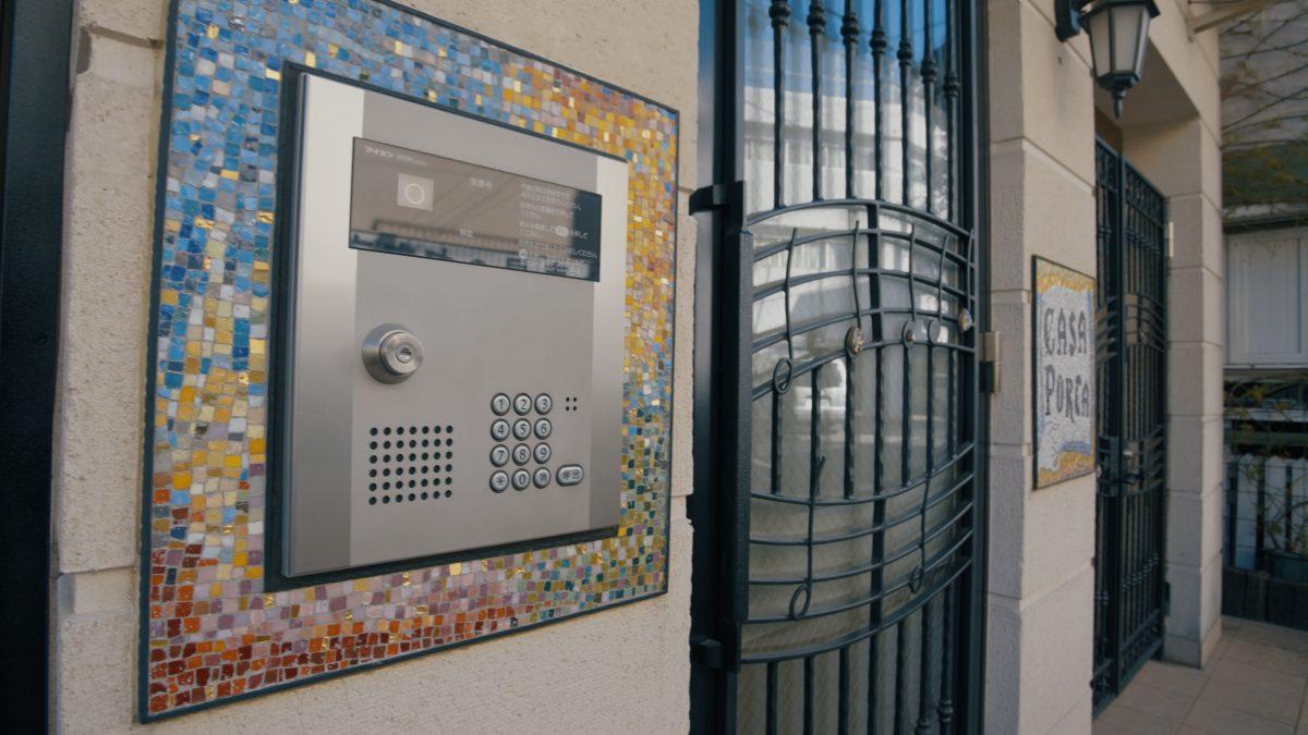 マンション用エントランスインターホン装飾事例