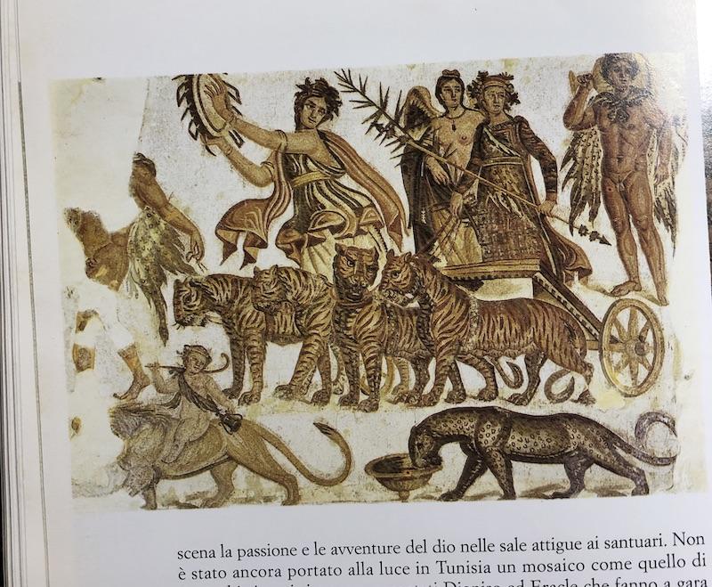 ぶどう酒の神 ディオニソス モザイクアート