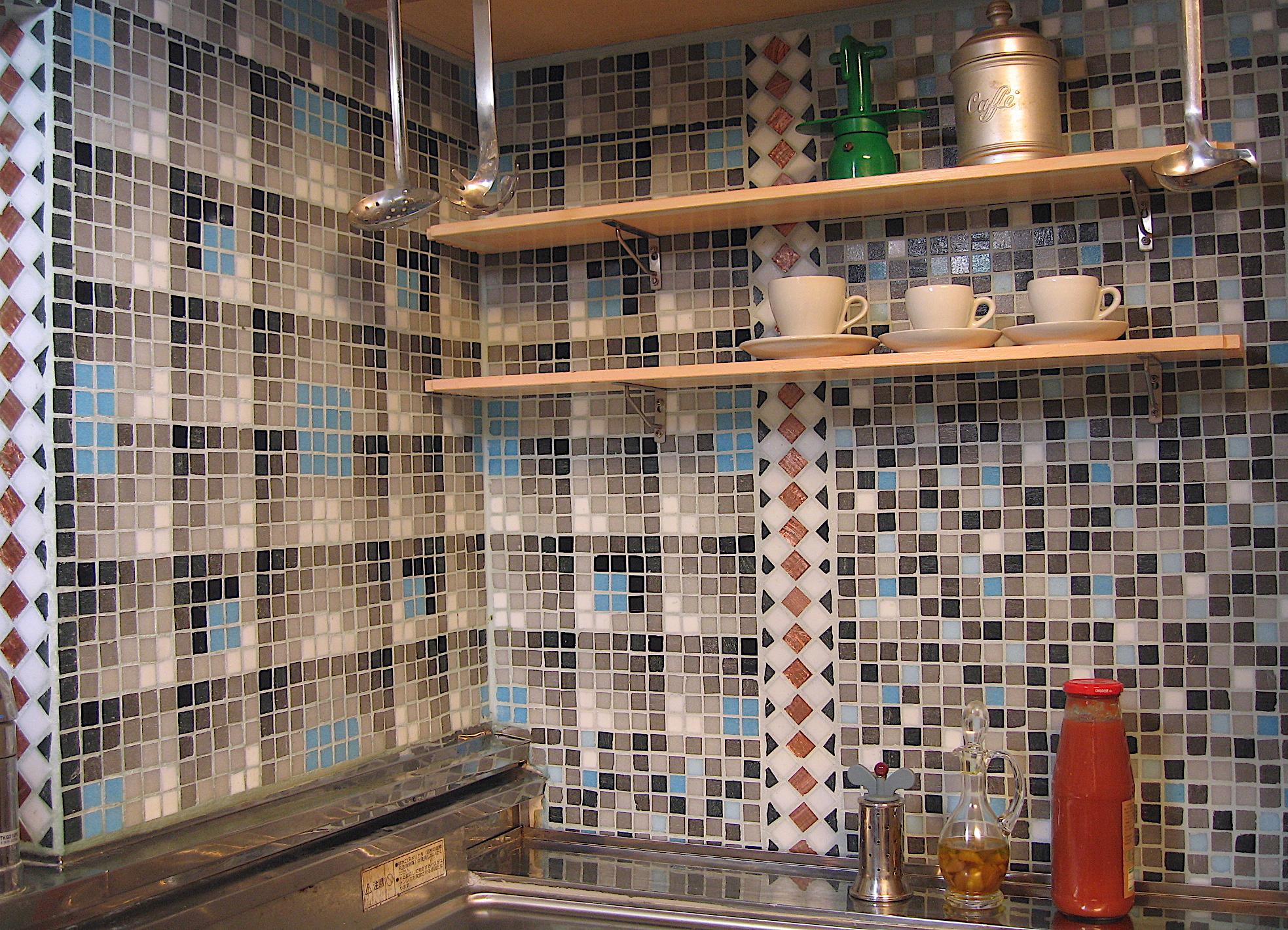 北向き古い台所・モザイクリメイク