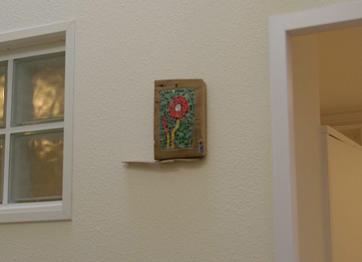 集合住宅 ひなげしの室名札 モザイクアート