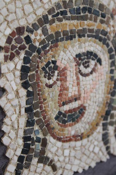 古代ローマのモザイクコピー 制作:おかだなほみ