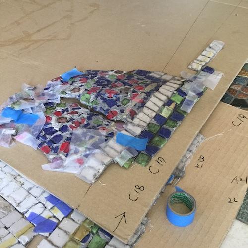 ガラスモザイク修復工事 のがたモザイク工房