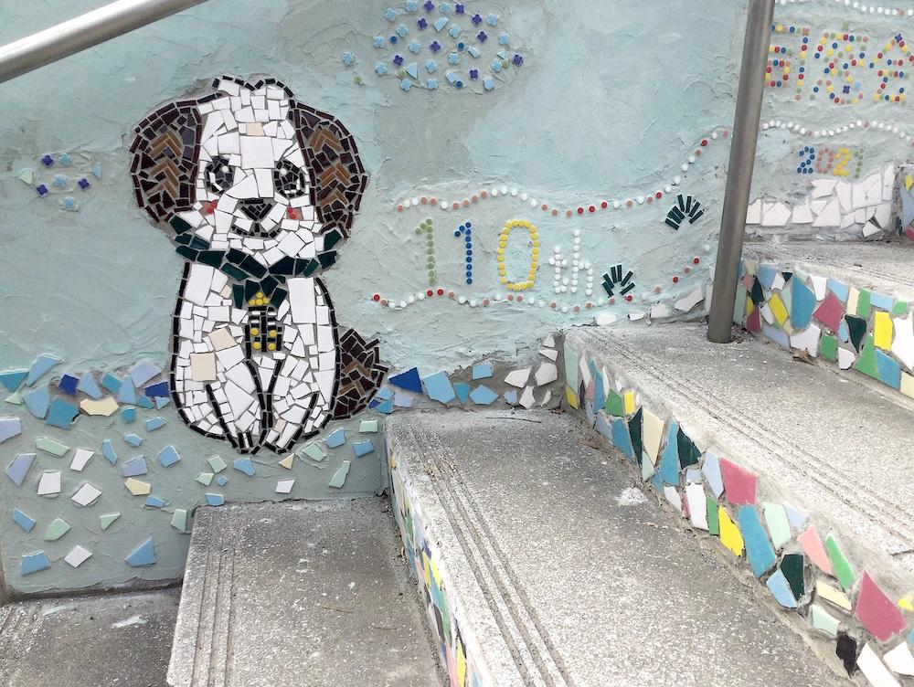 110周年記念キャラクター みんなで創る学校モザイクアート