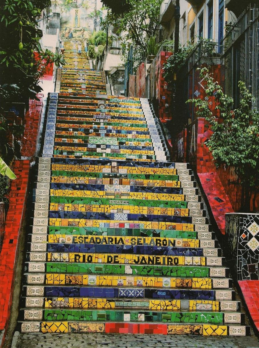 世界のモザイクアート階段・サラロン階段