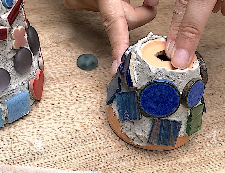 【90分で作ってみよう】モザイクアートのフォトフレーム・植木鉢