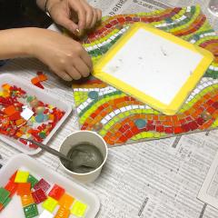 モザイクアート教室 ガラスモザイク七歩美モザイコ