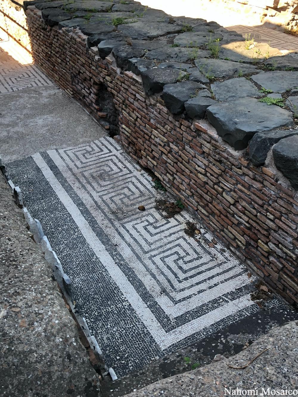 古代ローマの石畳 床モザイク文様