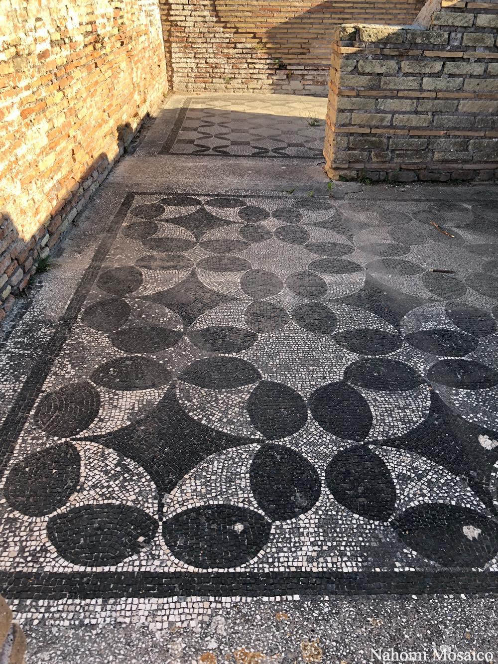 古代ローマの床モザイクデザイン オスティア・アンティーカ