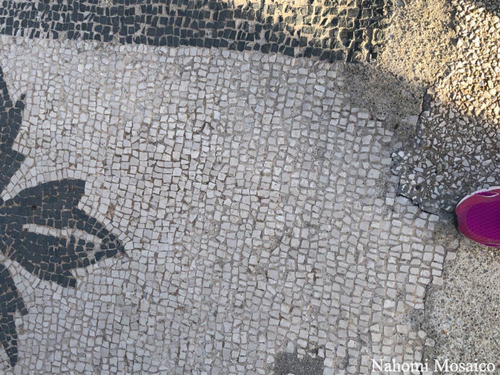 舗床モザイク部分 古代ローマ遺跡 オスティア