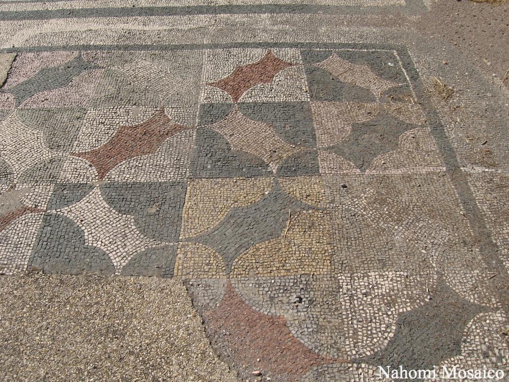 古代ローマの床デザイン 石畳のモザイク オスティア遺跡